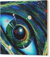 Eye Of Immortal Eternity. Timeless Space 2 Wood Print