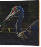 Eye Of The Crane Wood Print
