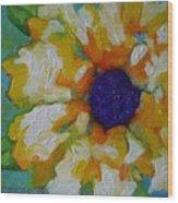 Eye Of The Flower Wood Print