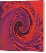 Eye Of The Honu - Red Wood Print