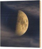 Eye Of The Night Wood Print