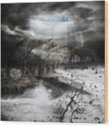 Eye Of The Storm Wood Print by Mary Hood