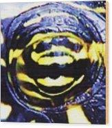 Eye Of The Turtle Wood Print
