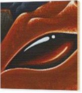Eye Of The Volcano Dragon Wood Print