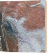 Eye Paint Wood Print