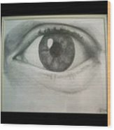 Eye Portrait Wood Print