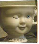 Eye Tea Cup 1 Wood Print