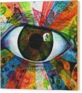 Eye To The Soul Wood Print