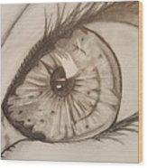 Eyeball 1 Wood Print