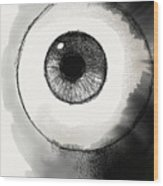 Eyeball Wood Print