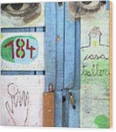 Eyes Door Wood Print
