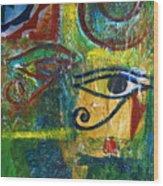 Eyes Of Horace Wood Print