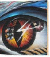 Eyes Of Immortal Soul Wood Print
