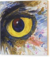 Eyes Of Owl's No.6 Wood Print