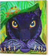 Eyes Of The Rainforest Wood Print
