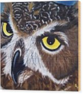 Eyes Of Wisdom Wood Print