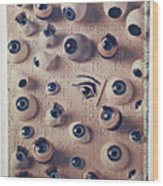 Eyes On Braille Page Wood Print