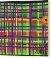 Eyes On The Grid Wood Print
