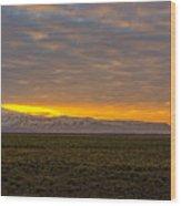 Eyjafjallajokull Sunrise Iceland Wood Print