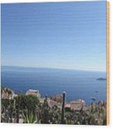 Eze's Garden Panoramic Wood Print