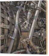 F-1 Rocket Engine Wood Print