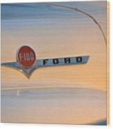 F-100 At Sunrise Wood Print