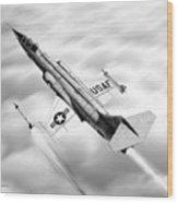F-104a Starfighter Wood Print