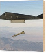 F 117 Nighthawk Engages Its Target And Drops A Gbu 28 Guided Bomb Wood Print