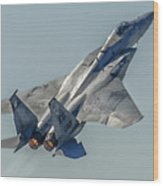 F-15 Afterburner Wood Print