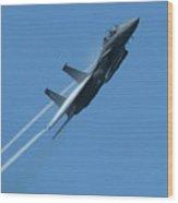 F-15 Strike Eagle Wood Print by Samuel Sheats