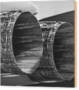 F 15 Thrusters B Wood Print