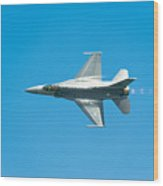F-16 Full Speed Wood Print