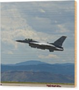 F-16 Tower Wood Print