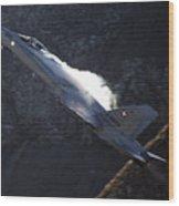 F 18 Wood Print
