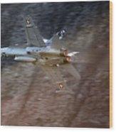 F 18 Hornet Wood Print