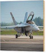 F-18 Super Hornet Wood Print
