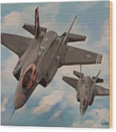 F-35's On Assignment  Wood Print