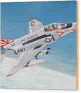 F-4b Phantom II Of Vf-111 Wood Print