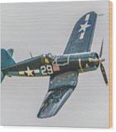F-4u Corsair Wood Print