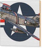 F-86 Sabre Wood Print