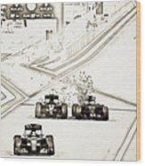 F1 Wood Print