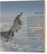 F16 - High Flight Wood Print