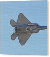 F22 Raptor Munitions Bays Open Wood Print