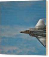 F22 Raptor Steals The Show Wood Print