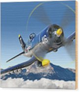 F4-u Corsair Wood Print