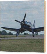 F4u-4 Corsair Airplane 30 Wood Print