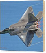 Fa 22 Raptor From Air Show Wood Print