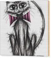 Fab Cat Wood Print