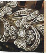 Faberge Diamond Hair Comb Detail Wood Print