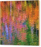Fabian Pond Reflections Wood Print